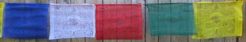 BUDDHAFIGUREN/Billy Held Buddhistische Gebetsfahnen 8,25 m Länge, 25 Blatt - Jede...