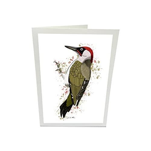 Grünspecht Glückwunschkarte Grußkarte Karte Vogel Zeichnung mit Umschlag