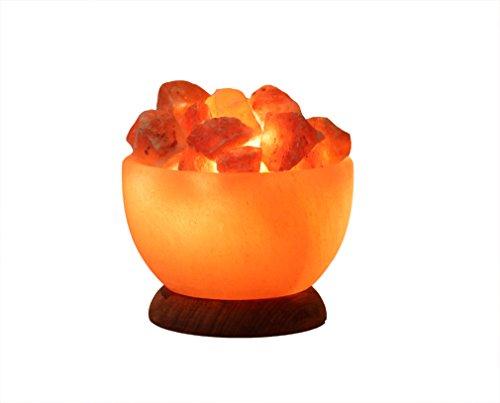 HIMALAYA SALT DREAMS - Beleuchtete Salzkristallschale RUND, inklusive Elektrik und...