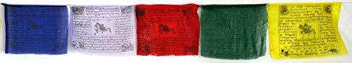 BUDDHAFIGUREN/Billy Held Buddhistische Gebetsfahnen 6 m Länge, 25 Blatt - jede Fahne...