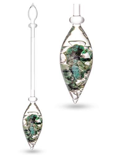 VitaJuwel VITALITY Edelsteinphiole mit Smaragd & Bergkristall