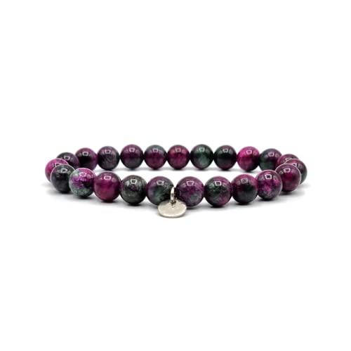 KARDINAL WEIST Turmalin Armband, Edelstein Perlen, Kraftstein Schmuck für Damen und...