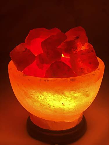 Salz Feuerschale Steinsalz -Salzkorb lampe Kristallsalz aus dem Vorgebirge des...
