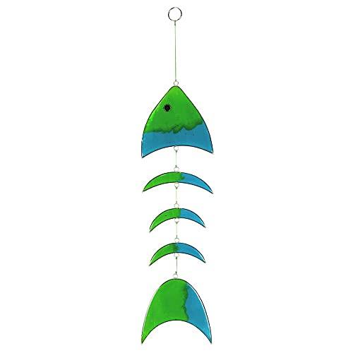 HAB & GUT -HA0044- Windspiel grün-blau-türkis Fisch durchsichtig, Mobile...