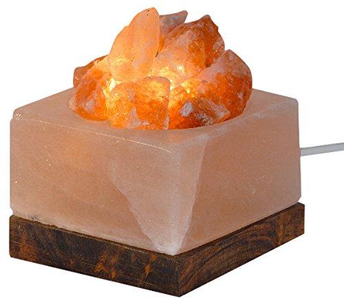 HIMALAYA SALT DREAMS - Beleuchtete Salzkristallschale ECKIG mit Salzkristallen und...