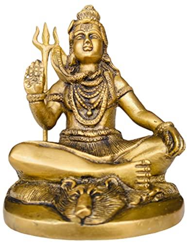 QT S Hindu-Gott Herr Shiva Idol Statue Hindu-Gott Shiva Statue für Zuhause Tempel...