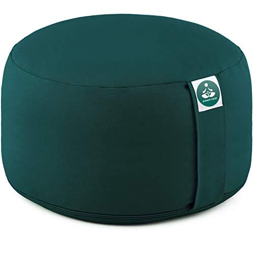 Present Mind Yogakissen Rund Extra Hoch (Sitzhöhe 20 cm) l Farbe: Smaragdgrün l...
