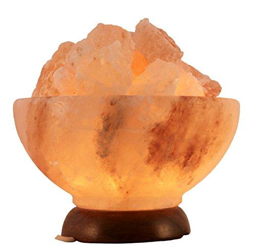 Biova Salz Kristall Stein Lampe Salzschale - Salzlampe Premiumqualität !
