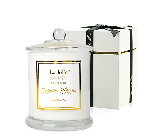 La Jolíe Muse Jasmin-Duftkerze, Geschenk für Frauen, natürliches Soja-Wachs, 65...