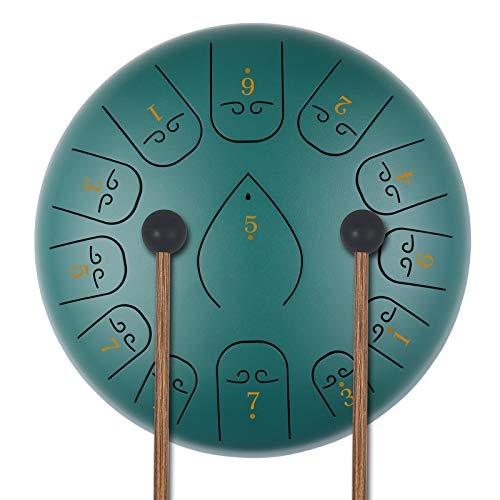 KUD 12 Zoll 13 Tone ätherische Trommel Schlagzeug Instrument, Tongue Drum,Steel Pan...