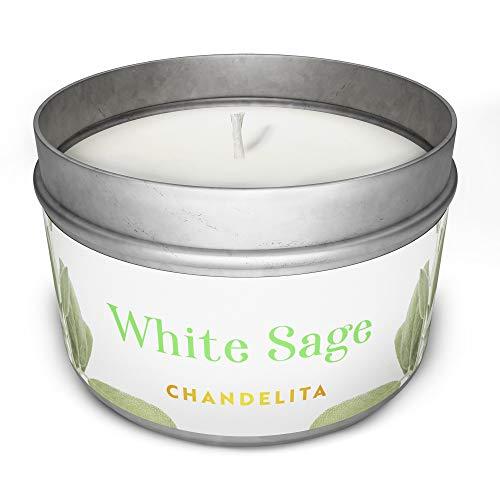Chandelita Duftkerze aus weißem Salbei, für Verdauung und Energie der Umwelt mit...