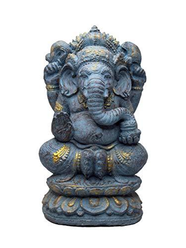 FaHome Ganesha Stein Figur Hindu Gottheit Skulptur Glück Statue ca. 35 cm...