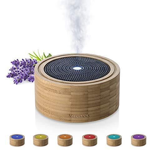 Medisana AD 625 Aromadiffuser aus Bambus, Vernebler aus Holz mit Wellness-Licht in 6...