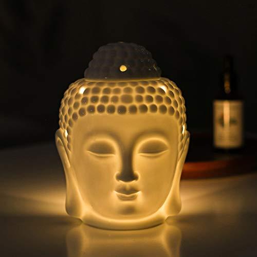 Buddha Figur Deko Ölbrenner Diffusor Raumduft Deko Wohnzimmer Weiß Skulptur Rituals...
