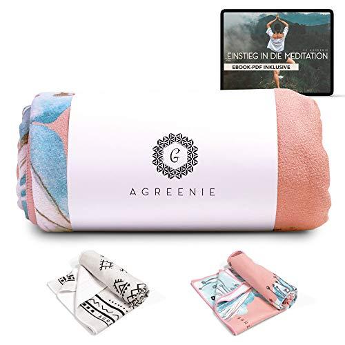 aGreenie Yoga Handtuch Antirutsch - Yogatuch aus Recycelter, Schnelltrocknender...