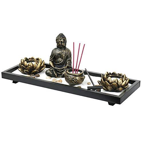 Tisch-Buddha-Zen-Garten, Räucherstäbchen, Kerzenhalter, Brenner-Set, Zen,...