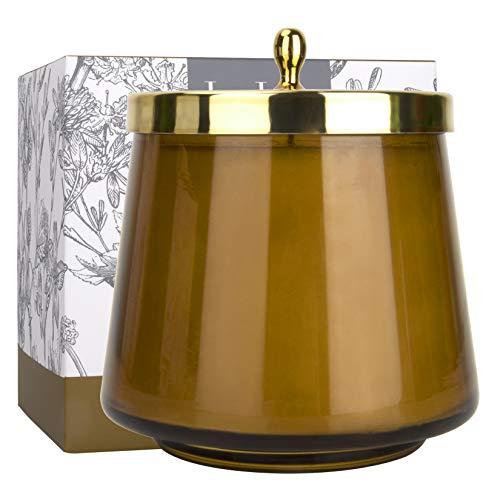 Würzige Bernstein-Duftkerze, Kerzen für Männer und Frauen, Geschenk, natürliche...