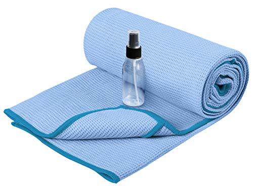 Heathyoga Yoga Handtuch mit hoher Bodenhaftung-Silikonbeschichtung, rutschfest-Wet...
