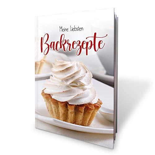 Kreative Feder Meine liebsten Backrezepte | Buch für eigene Backrezepte | Hardcover...