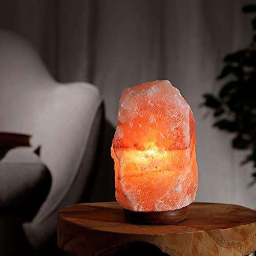 Salzkristalllampe aus der Salt Range Pakistan Salzlampe mit E14 Fassung Kristall...