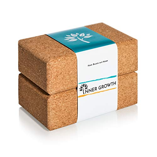 Inner Growth Yoga Block 2er Set aus Naturkork Made in Portugal - unsere Yoga Klötze...