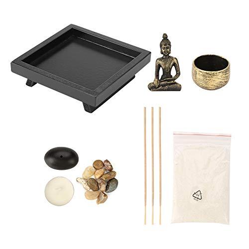 YD50 Tischplatte Buddha Zen Garden Bronze Vintage Weihrauchbrenner Weihrauch Brenner...