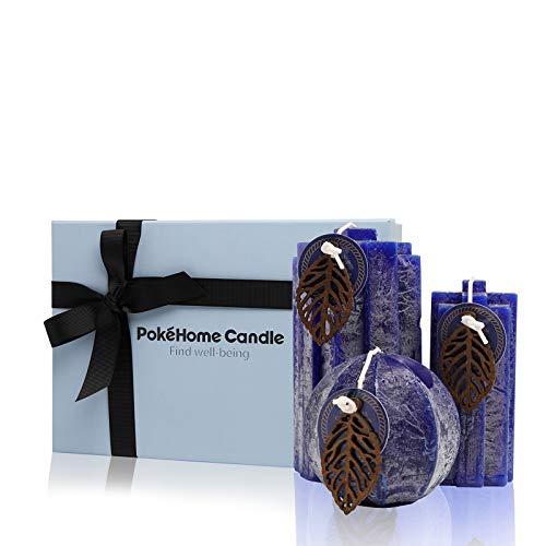 Duftkerzen Geschenkset, PokeHome Candle 3 Stück Duftkerzen Geschenkset für Frauen,...