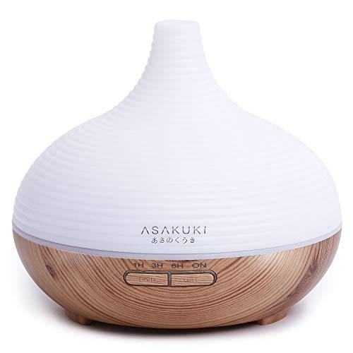 ASAKUKI 300ml Aroma Diffuser für Duftöle, Premium Ultraschall Luftbefeuchter...