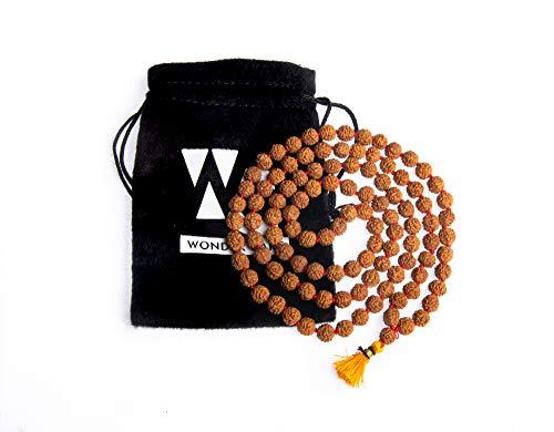 Wonder Care Authentic Rudraksh Mala-5 Gesicht 108 + 1 Perle - Echtes Himalaya...