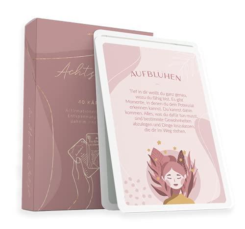 40 Achtsamkeitskarten von Lebenskompass® - Anti Stress Achtsamkeit Karten -...