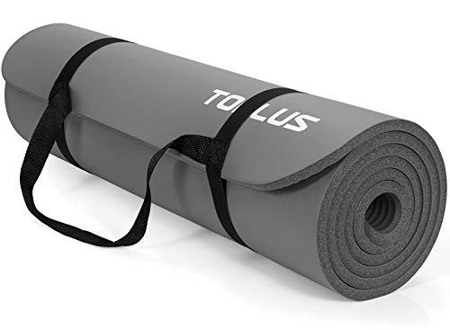 TOPLUS Verdickte Gymnastikmatte Phthalatfreie Yogamatte rutschfest und gelenkschonend...