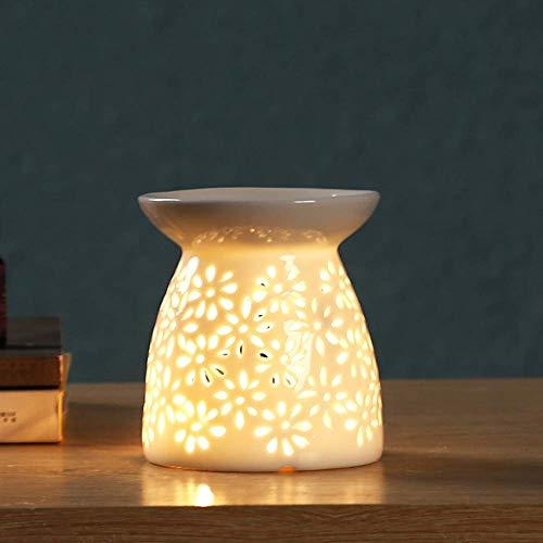 LEH Keramik Duftlampe Aromalampe Duftlampe aus Keramik mit der Candle Kerzenlöffel...