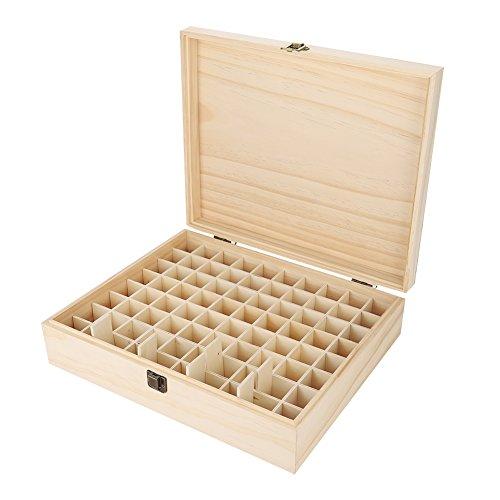 Vorratsbehälter für ätherische Öle aus Holz, ätherische Ölbox, große hölzerne...