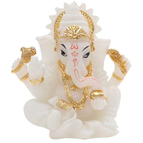 Healifty Ganesha Elefant Statue Harz Buddha handgemachte Figur für Office Home