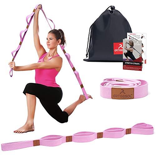 arteesol Yogagurt mit 10 Schlaufe Gymnastik-Gurt für Stretch Übungs,...