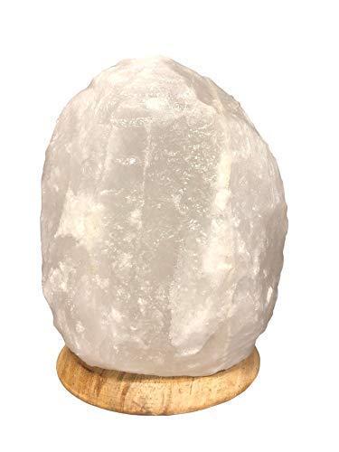 SudoreWell® Halit Salzkristall Lampe Salzlampe aus der Salt Range Pakistan weiß...