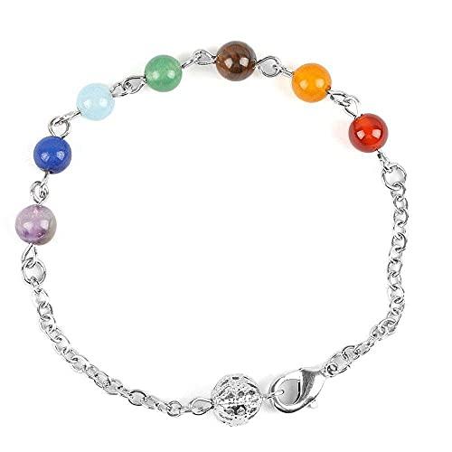 Perlen Armband Frauen Stein Sommer Yoga Schmuck Link Kette Armband 7 Chakra Point...