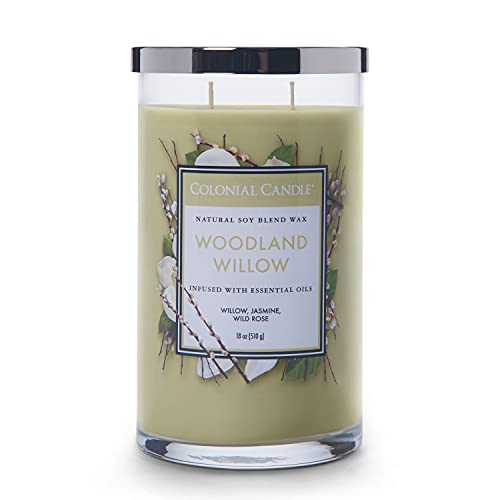 Colonial Candle 2-Docht Duftkerze im Glas mit Deckel - Woodland Willow (538g) -...