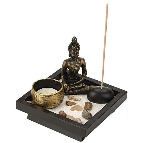 Hztyyier Tabletop Buddhismus Candlestick Home Zen Garten Buddha Statue...