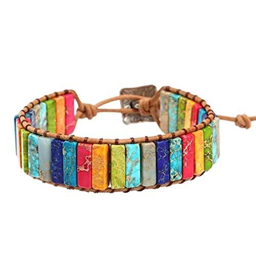 Xiton 7 Chakra-Armband Einstellbar Bohemien Schmuck Geflochtene ArmbäNder...