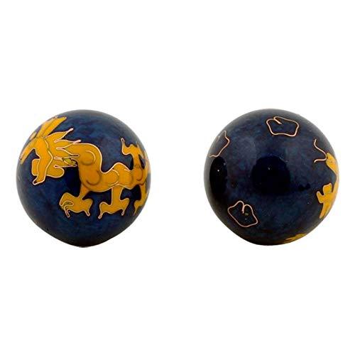 Qi Gong Kugeln Gelber Drache - 4 cm