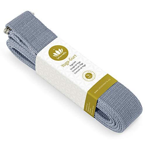 Lotuscrafts Yogagurt - 100% Baumwolle (KBA) - für bessere Dehnung - für Anfänger...