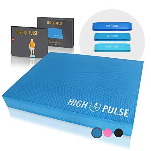 High Pulse® XXL Balance Pad inkl. 3X Fitnessbänder + Poster – Balancekissen für...