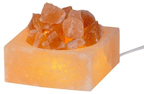 HIMALAYA SALT DREAMS - Beleuchtete Salzkristallschale PETITE Kubus, inklusive...