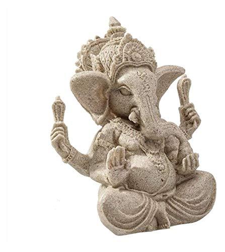 mimiliy Sandstein Ganesha Buddha Elefant Statue Skulptur Handgemachte Elefant Figur...