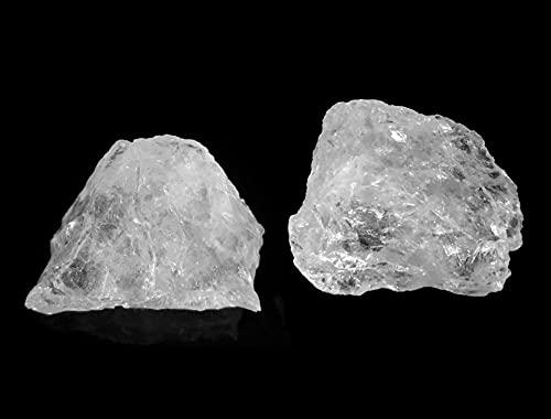 MKöpke® - Bergkristall Rohsteine - 2er-Set Wassersteine für Edelsteinwasser -...