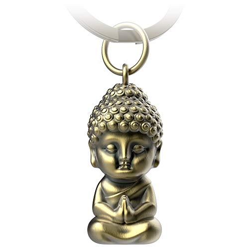 FABACH Buddha Schlüsselanhänger Karma - Buddha Anhänger aus Metall - Mini-Buddha...