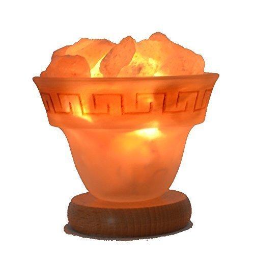 Edelsteinartikel Salzkristall Lampe   mit E14 Fassung   1 Kg Salz-Brocken klein  ...