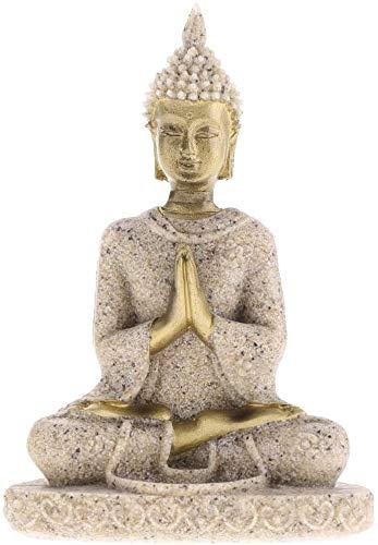 Yikko Mini Sandstein Buddha Statue Metriya Statue Handgeschnitzte Skulptur Set...