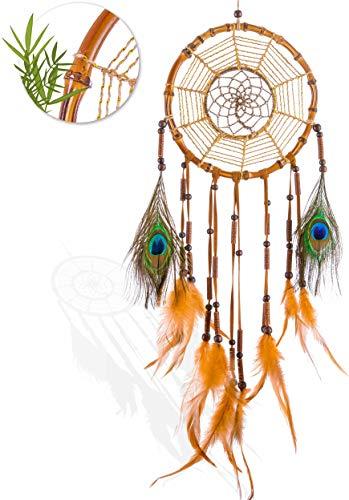 Prince Boho® Bambus Traumfänger Groß, Handmade Premium Dreamcatcher, Indianer Deko...